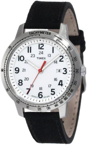 タイメックス 腕時計 メンズ T2N638 【送料無料】Timex Men's T2N638 Weekender Sport Black Nubuck Leather Strap Watchタイメックス 腕時計 メンズ T2N638