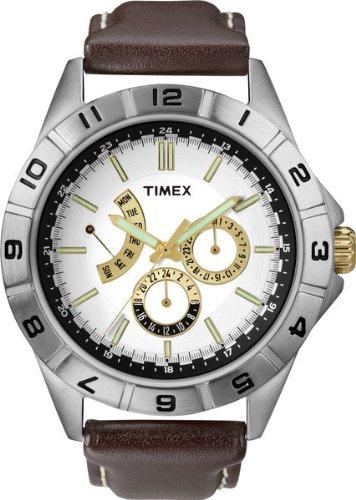 タイメックス 腕時計 メンズ T2N517AU 【送料無料】Timex Men's Quartz Watch with White Dial Analogue Display and Brown Leather Strap T2N517AUタイメックス 腕時計 メンズ T2N517AU