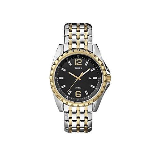 腕時計 タイメックス メンズ T2P271 【送料無料】Timex T2P271 WR50M Quartz Stainless Steel Two Tone Black Dial Dress Men's Watch腕時計 タイメックス メンズ T2P271