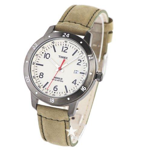 タイメックス 腕時計 メンズ T2N898 【送料無料】Timex Men's Weekender Sport T2N898 Leather Strap Cream Dial Indiglo Watchタイメックス 腕時計 メンズ T2N898