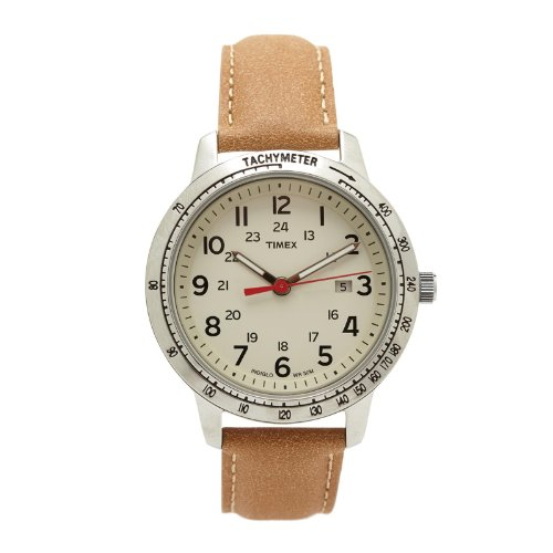 腕時計 タイメックス メンズ T2N856 【送料無料】Timex T2n856 Men's Weekender Brown Leather Watch腕時計 タイメックス メンズ T2N856