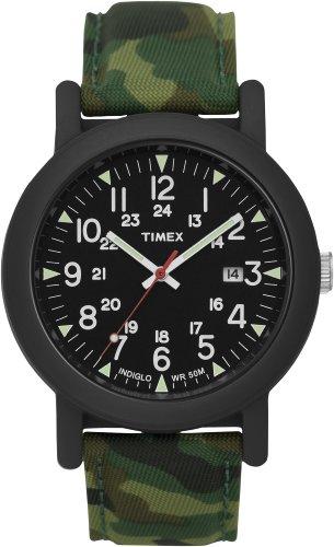 タイメックス 腕時計 メンズ T2N675 【送料無料】Timex Mens Urban Camper Black INDIGLO Dial Resin Case Camouflage Canvas Strap Watch T2N675タイメックス 腕時計 メンズ T2N675
