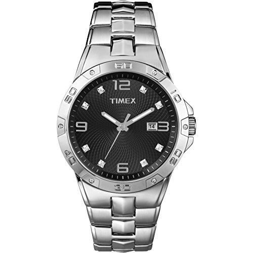 タイメックス 腕時計 メンズ T2P2619J 【送料無料】Timex Men's T2P2619J Crystal-Accented Stainless Steel Watchタイメックス 腕時計 メンズ T2P2619J