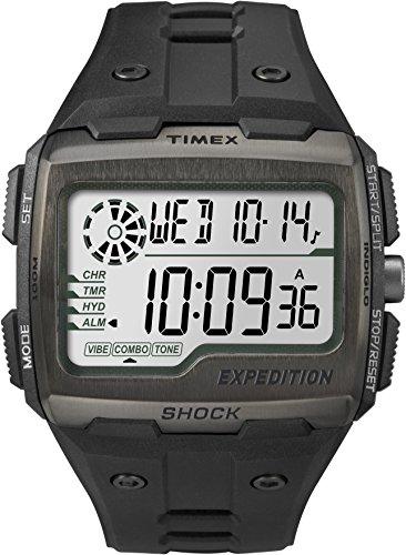 タイメックス 腕時計 メンズ TW4B02500 Timex TW4B02500 Men Grid Shock LCD/Black Dial with Black Resin Strap Watchタイメックス 腕時計 メンズ TW4B02500