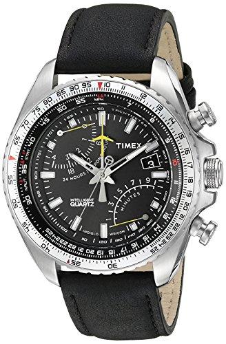 タイメックス 腕時計 メンズ T2P101 Timex Men's T2P101 Stainless Steel Intelligent Quartz Aviator Fly-Back Watchタイメックス 腕時計 メンズ T2P101