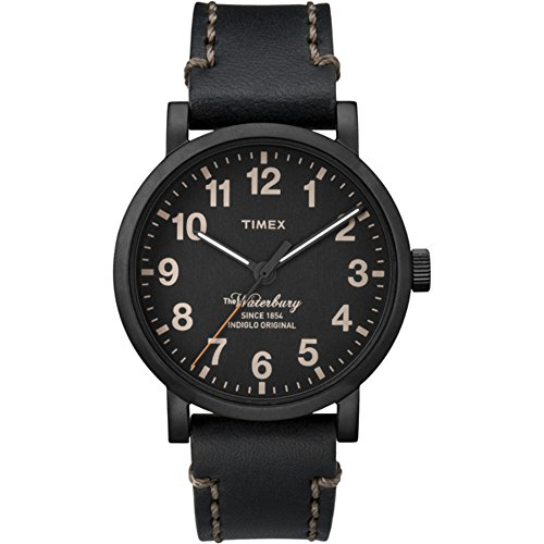 タイメックス 腕時計 メンズ Timex? The Waterbury 【送料無料】Timex Men's Waterbury | Black Dial & Leather Strap Date | Casual Watch TW2P59000タイメックス 腕時計 メンズ Timex? The Waterbury