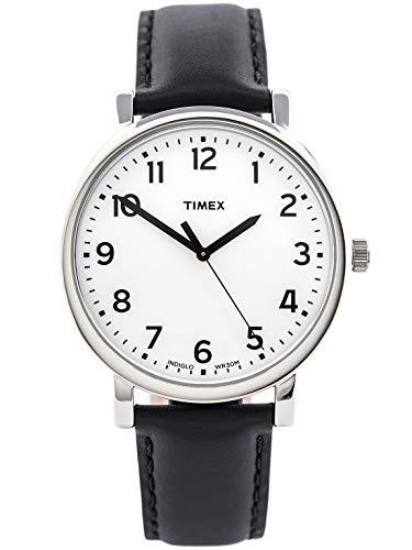 タイメックス 腕時計 メンズ T2N338 Timex Originals Men's T2N338 Quartz Watch with White Dial Analogue Display and Black Leather Strapタイメックス 腕時計 メンズ T2N338