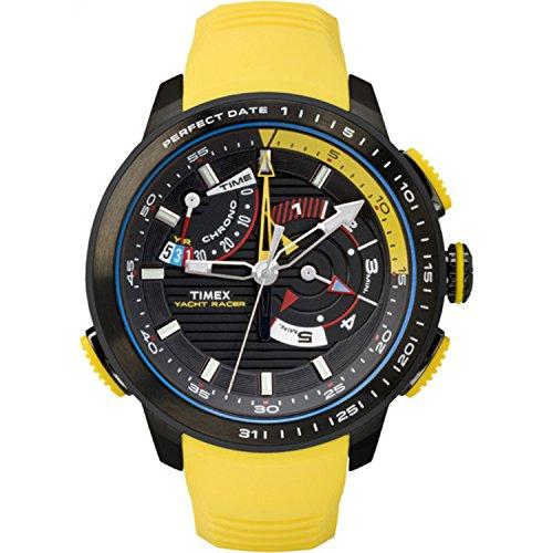 タイメックス 腕時計 メンズ TW2P44500 Timex Men's TW2P44500DH Intelligent Quartz Yacht Racer Watch With Yellow Silicone Bandタイメックス 腕時計 メンズ TW2P44500