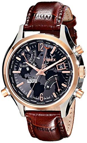 腕時計 Quartz T2N942DH T2N942DH Time 腕時計 メンズ T2N942DH タイメックス World Intelligent Men's Watchタイメックス Timex メンズ