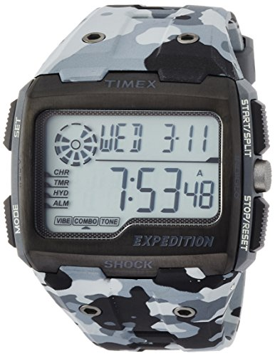 タイメックス 腕時計 メンズ TW4B03000 Timex TW4B03000 Mens Expedition Digital Shock Grey Camo Chrono Watchタイメックス 腕時計 メンズ TW4B03000