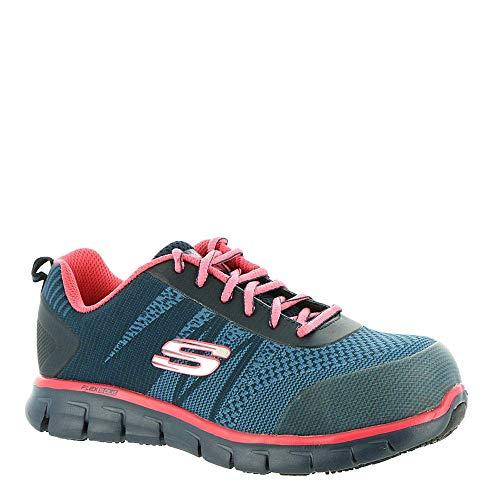 スケッチャーズ 海外ブランドシューズ アメリカ送料無料 Skechers Work Sure Track Saquenay Alloy Toe Womens Sneakersスケッチャーズ 海外ブランドシューズ アメリカvONn08wm