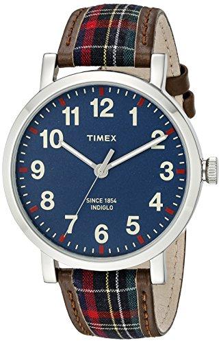 タイメックス 腕時計 メンズ TW2P69500AB Timex Unisex TW2P69500AB Heritage Collection Watch with Plaid Bandタイメックス 腕時計 メンズ TW2P69500AB