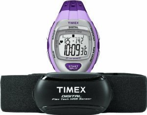 腕時計 タイメックス レディース 【送料無料】Timex Women's Quartz Watch with LCD Dial Digital Display and Purple Resin Strap T5K 733 F7腕時計 タイメックス レディース