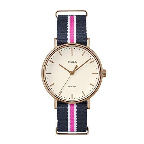 タイメックス 腕時計 レディース TW2P91500 【送料無料】Timex Weekender Fairfield Navy/Pink Nylon Strap Watch TW2P91500タイメックス 腕時計 レディース TW2P91500