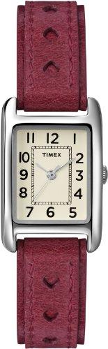 タイメックス 腕時計 レディース T2N906KW Timex Women's T2N906 Weekender Red Leather Strap Watchタイメックス 腕時計 レディース T2N906KW