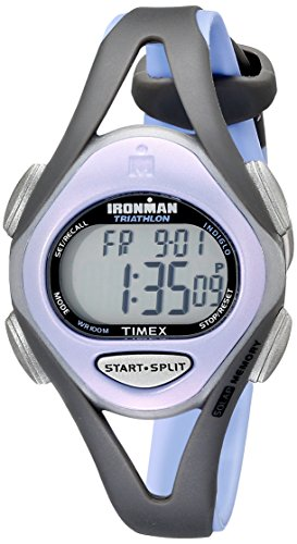 タイメックス 腕時計 レディース T5E511 【送料無料】Timex Women's T5E511 Ironman Sleek 50 Mid-Size Purple/Gray Resin Strap Watchタイメックス 腕時計 レディース T5E511