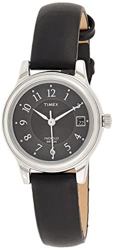 タイメックス 腕時計 レディース T29291 【送料無料】Timex Women's T29291 Porter Street Black Leather Strap Watchタイメックス 腕時計 レディース T29291