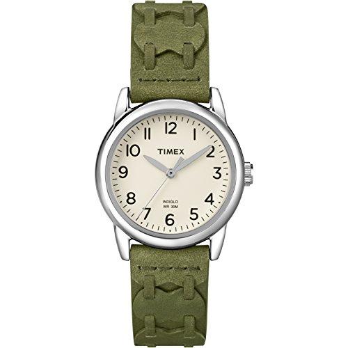 タイメックス 腕時計 レディース T2N903KW Timex Women's | Green Leather Strap Chrome Case | Dress Watch T2N903タイメックス 腕時計 レディース T2N903KW