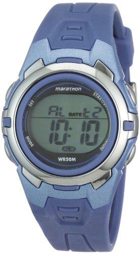 タイメックス 腕時計 レディース T5K362 【送料無料】Marathon by Timex Unisex T5K362 Digital Mid-Size Blue Resin Strap Watchタイメックス 腕時計 レディース T5K362