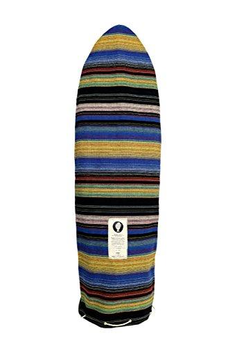サーフィン ボードケース バックパック マリンスポーツ 【送料無料】Open Road Goods Blue Striped Surfboard Bag/Surfboard Sock Cover Travel Bag, Handmade! Awesome Surf Accessory! 6'0 (Good for Egg,サーフィン ボードケース バックパック マリンスポーツ
