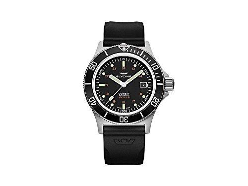 腕時計 グリシン スイスウォッチ メンズ グライシン 【送料無料】Glycine Combat Mens Analog Automatic Watch with Silicone Bracelet GL0087腕時計 グリシン スイスウォッチ メンズ グライシン