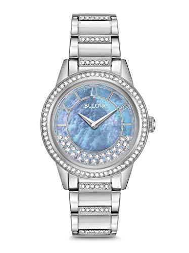 ブローバ 腕時計 レディース 【送料無料】BULOVA Mother of Pearl Stainless Steel Watch-96L260ブローバ 腕時計 レディース