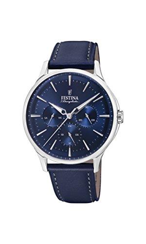 フェスティナ フェスティーナ スイス 腕時計 メンズ 【送料無料】Festina Mens Analogue Quartz Watch with Leather Strap F16991/3フェスティナ フェスティーナ スイス 腕時計 メンズ