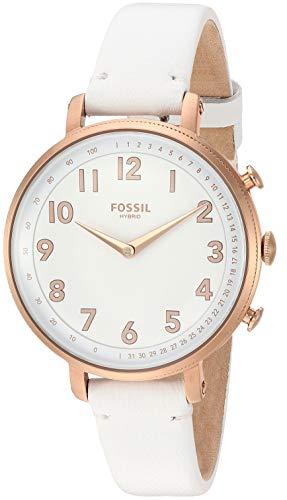 腕時計 フォッシル レディース 【送料無料】Fossil Women's Stainless Steel Hybrid Watch with Leather Strap, White, 14 (Model: FTW5045)腕時計 フォッシル レディース