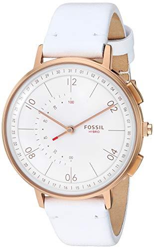 フォッシル 腕時計 レディース 【送料無料】Fossil Women's Stainless Steel Hybrid Watch with Leather Strap, White, 16 (Model: FTW5048)フォッシル 腕時計 レディース