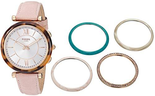 腕時計 フォッシル レディース 【送料無料】Fossil Women's Stainless Steel Hybrid Watch with Leather Strap, Beige, 16 (Model: FTW5042SET)腕時計 フォッシル レディース