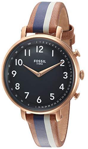 フォッシル 腕時計 レディース 【送料無料】Fossil Women's Stainless Steel Hybrid Watch with Leather Strap, Multi, 14 (Model: FTW5052)フォッシル 腕時計 レディース