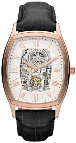 フォッシル 腕時計 レディース 【送料無料】Fossil Ansel Automatic Leather Watch - Black Me3024フォッシル 腕時計 レディース