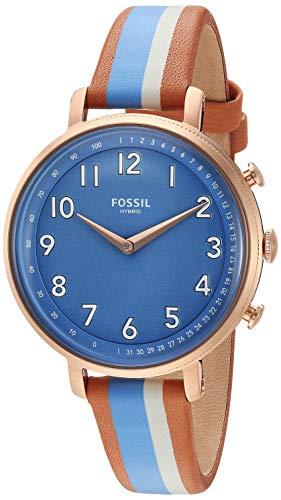 腕時計 フォッシル レディース 【送料無料】Fossil Women's Stainless Steel Hybrid Watch with Leather Strap, Multi, 14 (Model: FTW5050)腕時計 フォッシル レディース