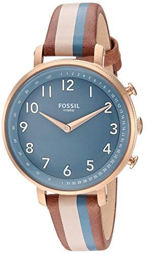 フォッシル 腕時計 レディース 【送料無料】Fossil Women's Stainless Steel Hybrid Watch with Leather Strap, Multi, 14 (Model: FTW5053)フォッシル 腕時計 レディース