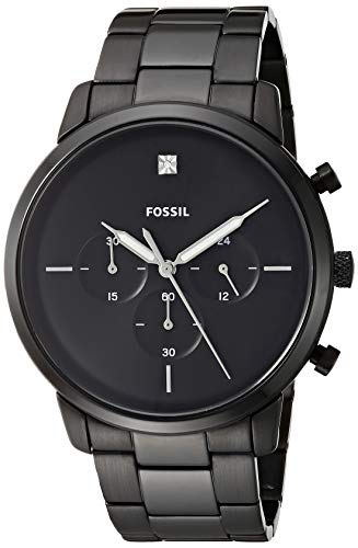 フォッシル 腕時計 メンズ 【送料無料】Fossil Men's Neutra Stainless Steel Carbon Series Chronograph Watch, Color: Black (Model: FS5583)フォッシル 腕時計 メンズ