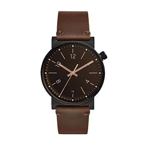 フォッシル 腕時計 メンズ 【送料無料】Fossil Men's Barstow Three-Hand Date Black-Tone Stainless Steel Watch FS5552フォッシル 腕時計 メンズ
