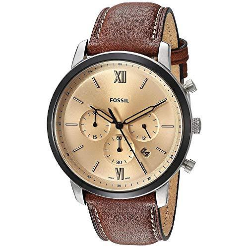 フォッシル 腕時計 メンズ 【送料無料】Fossil 44 mm Neutra - FS5627 Silver/Brown One Sizeフォッシル 腕時計 メンズ