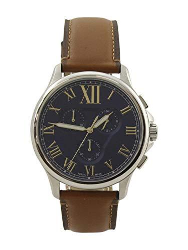 フォッシル 腕時計 メンズ 【送料無料】Fossil 42 mm Monty - FS5640 Silver/Tan One Sizeフォッシル 腕時計 メンズ