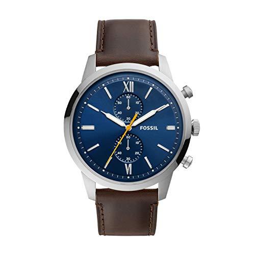 腕時計 フォッシル メンズ 【送料無料】Fossil Men's 48mm Townsman Chronograph Silver-Tone Stainless Steel Watch FS5549腕時計 フォッシル メンズ