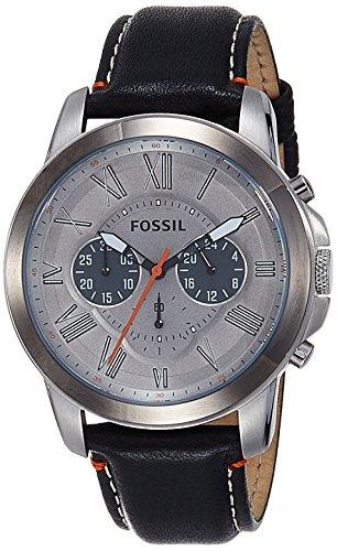 腕時計 フォッシル メンズ 【送料無料】Fossil Men's FS4886 Grant Analog Display Analog Quartz Black Watch腕時計 フォッシル メンズ
