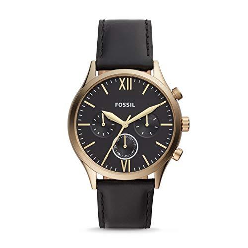 フォッシル 腕時計 メンズ 【送料無料】Fossil Fenmore Midsize Multifunction Black Leather Watch BQ2410フォッシル 腕時計 メンズ