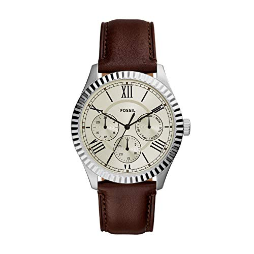 腕時計 フォッシル メンズ 【送料無料】Fossil Men's Chapman Quartz Stainless Steel and Leather Watch, Color: Silver, Brown (Model: FS5633)腕時計 フォッシル メンズ