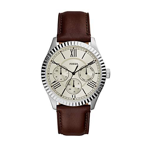 腕時計 フォッシル メンズ 【送料無料】Fossil Men's Chapman Quartz Stainless Steel and Leather Watch, Color: Silver, Brown (Model: FS5633)腕時計 フォッシル メンズ