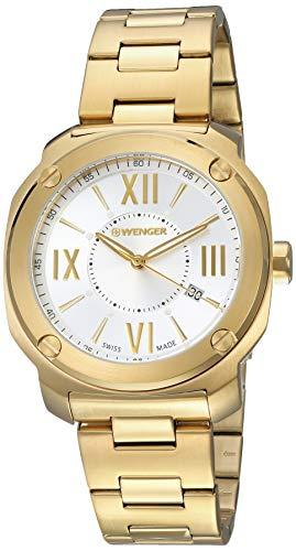 ウェンガー スイス メンズ 腕時計 【送料無料】Wenger Edge Romans Quartz Movement Silver Dial Men's Watch 11141122ウェンガー スイス メンズ 腕時計