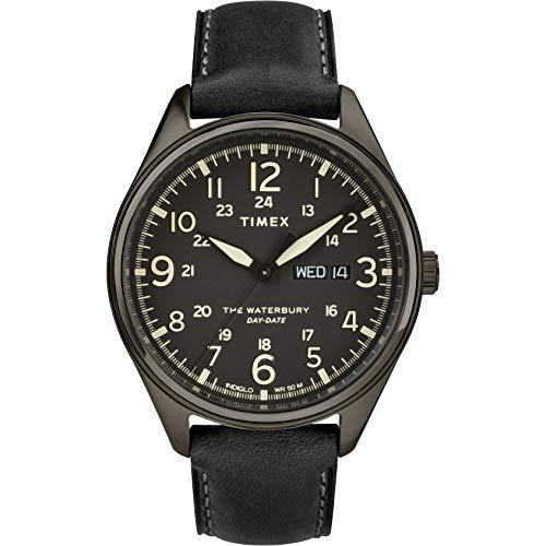 タイメックス 腕時計 メンズ 【送料無料】TIMEX Black Leather Watch-TW2R89100タイメックス 腕時計 メンズ