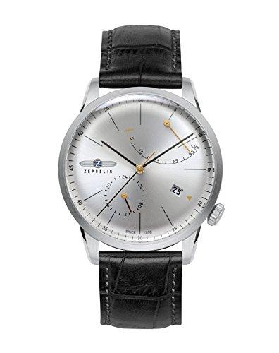 ツェッペリン 腕時計 メンズ ゼッペリン ドイツ 【送料無料】Graf Zeppelin LZ129 Flatline Automatic Watch with Power Reserve 7366-4ツェッペリン 腕時計 メンズ ゼッペリン ドイツ
