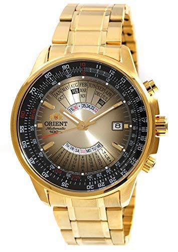 オリエント 腕時計 メンズ 【送料無料】ORIENT Sports Automatic Multi-Year Calendar Gold Steel Watch EU07004Uオリエント 腕時計 メンズ
