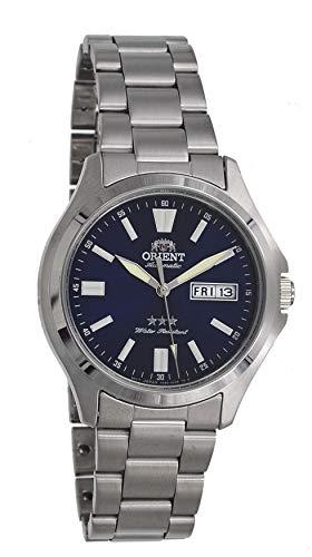オリエント 腕時計 メンズ 【送料無料】Orient RA-AB0F09L Men's Stainless Steel 3 Star Blue Dial Luminous Index Day Date Automatic Watchオリエント 腕時計 メンズ