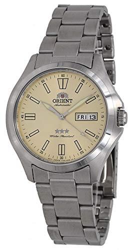 オリエント 腕時計 メンズ 【送料無料】Orient RA-AB0F011G Men's Stainless Steel 3 Star Champagne Dial Luminous Index Day Date Automatic Watchオリエント 腕時計 メンズ