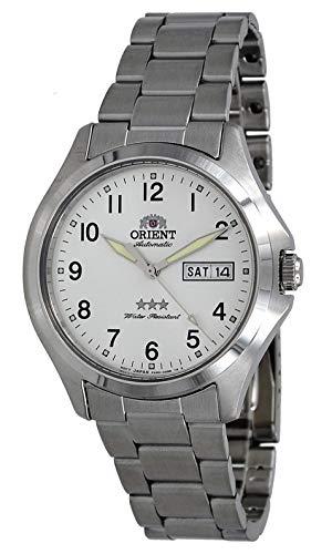オリエント 腕時計 メンズ 【送料無料】Orient RA-AB0F15S Men's Stainless Steel 3 Star Silver Numbers Dial Day Date Automatic Watchオリエント 腕時計 メンズ